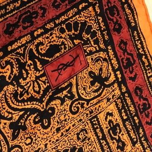 YVES SAINT LAURENT Silk Vintage Scarf 1980
